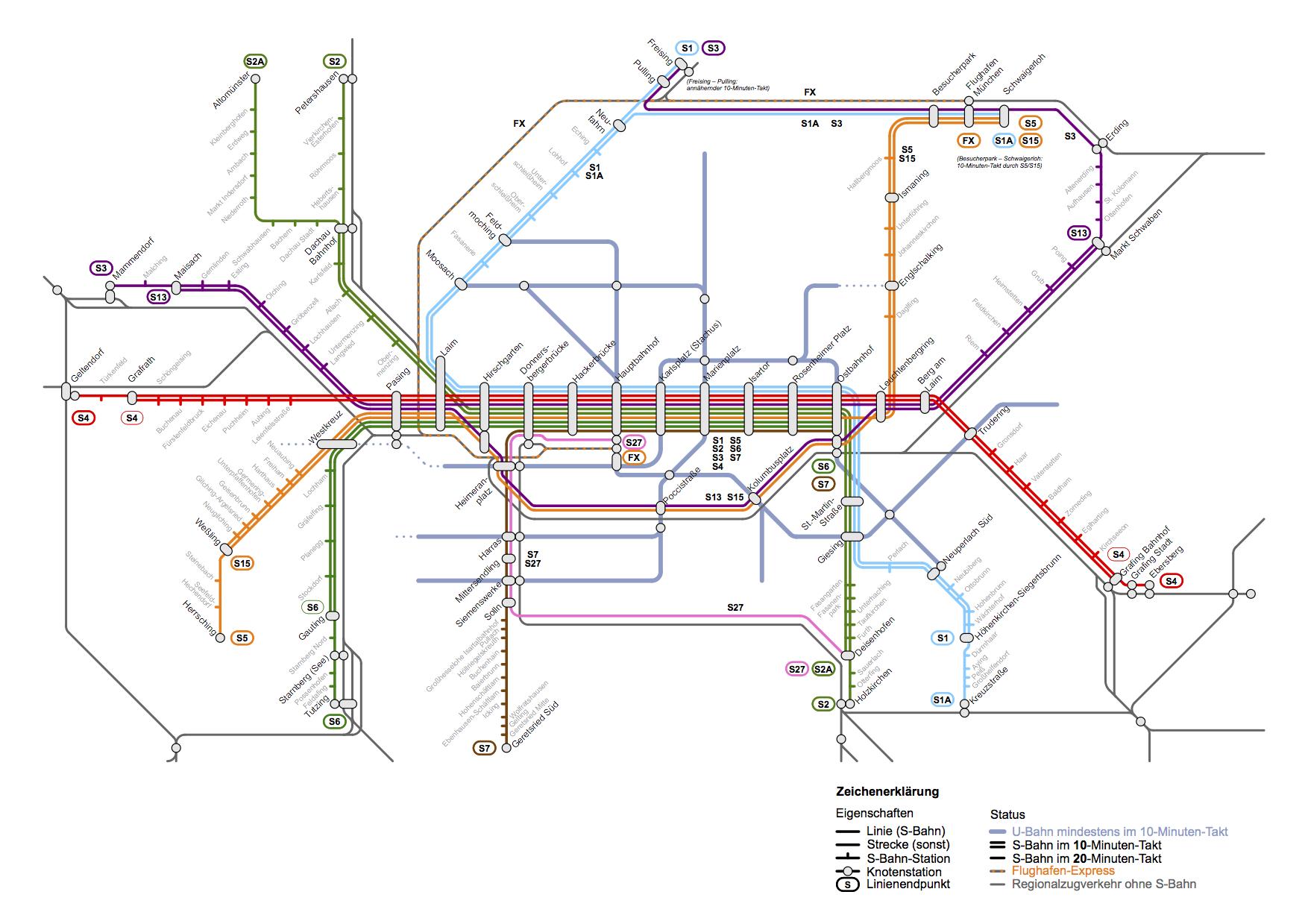 S Bahn Karte München.Liniennetz 2030 Zukunftskonzept S Bahn München 2030